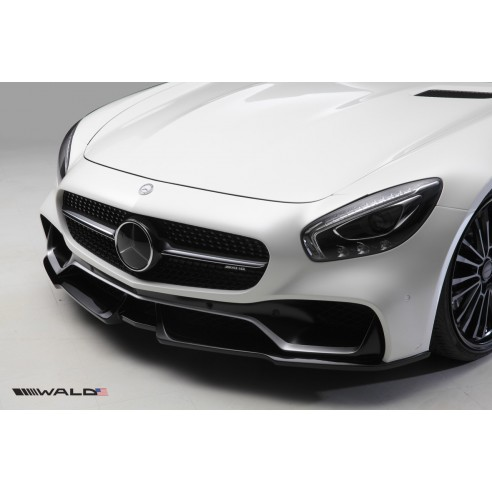 Front Bumper with Optional Canards for Mercedes-Benz AMG GT S 2015-2016 by Wald International