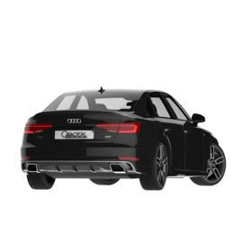 Rear Spoiler with Dual Tail Pipe for Audi A4 2016-2017 by Caractere