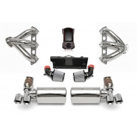 Sport Performance Package with Accessport with Tips - Black Chrome for 2005-2009 Porsche 997 Turbo by Fabspeed Motorsport