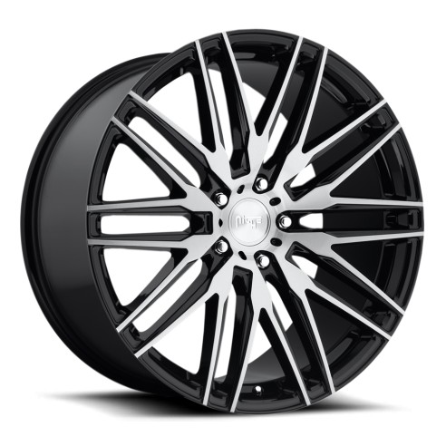 Anzio - M165 Wheel by Niche Wheels - Shown in Gloss Black with Brushed Face Finish