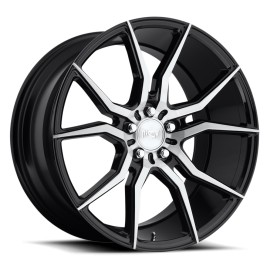 Ascari - M166 Wheel by Niche Wheels - Shown in Gloss Black with Brushed Face Finish