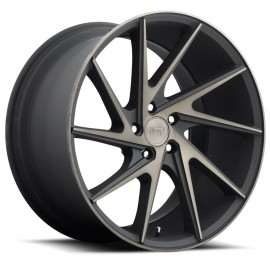 Invert - M163 Wheel by Niche Wheels - Shown in Black Machined with Dark Tint Finish