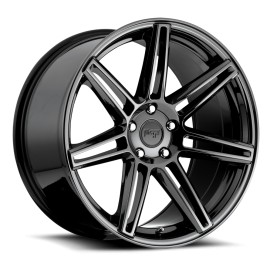 Lucerne - M141 Wheel by Niche Wheels - Shown in Black Chrome PVD  Finish
