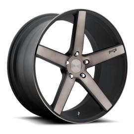 Milan - M134 Wheel by Niche Wheels - Shown in Black Machined with Dark Tint Finish