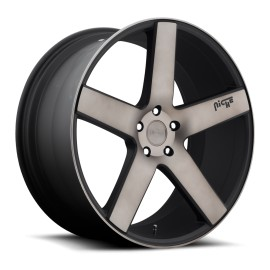 Milan - M134 SUV Wheel by Niche Wheels - Shown in Black Machined with Dark Tint Finish