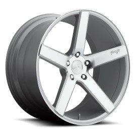 Milan - M135 Wheel by Niche Wheels - Shown in Silver with Machine Cut Face Finish