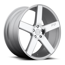 Milan - M135 SUV Wheel by Niche Wheels - Shown in Silver with Machine Cut Face Finish