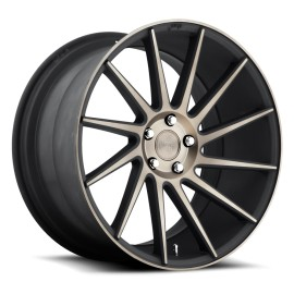 Surge - M114 Wheel by Niche Wheels - Shown in Black Machined with Dark Tint Finish