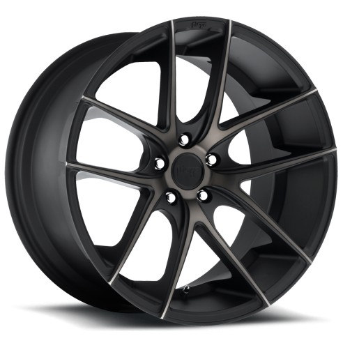 Targa - M130 Wheel by Niche Wheels - Shown in Black Machined with Dark Tint Finish