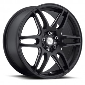 NR6 - M106 Wheel by Niche Wheels - Shown in Stone Black with Milled Spoke Finish
