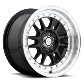 Walker - M091 Wheel by Niche Wheels - Shown in Gloss Black with Machined Lip Finish