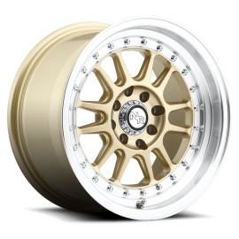 Walker - M092 Wheel by Niche Wheels - Shown in Matte Gold with Machined Lip Finish