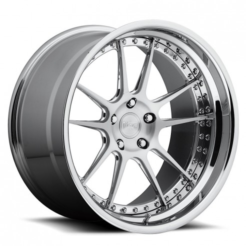 Chicane - H81 Wheel by Niche Wheels - Shown in Custom Finishes Available (SHOWN: Brushed with Chrome Lip) Finish