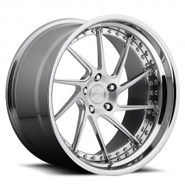 Invert - H73 Wheel by Niche Wheels - Shown in Custom Finishes Available (SHOWN: Brushed with Chrome Lip) Finish