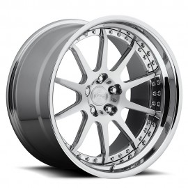 Revo - H83 Wheel by Niche Wheels - Shown in Custom Finishes Available (SHOWN: Brushed with Chrome Lip) Finish