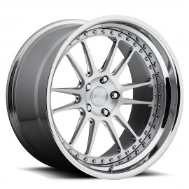 Vicenza - H72 Wheel by Niche Wheels - Shown in Custom Finishes Available (SHOWN: Brushed with Chrome Lip) Finish