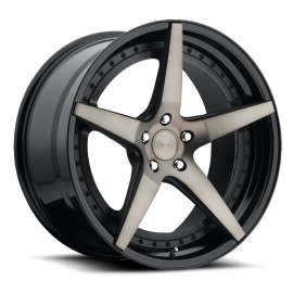 Le Mans - M322 Wheel by Niche Wheels - Shown in Black and Machined with Dark Tint Finish