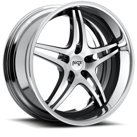 Sportiva - M205 Wheel by Niche Wheels - Shown in Black and Machined with Polished Rim Finish