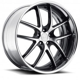 Targa - M215 Wheel by Niche Wheels - Shown in Black and Machined with Polished Rim Finish